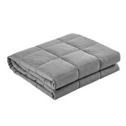 Giselle Bedding 5KG Cotton Weighted Gravity Blanket Deep Relax Calming Adult Light Grey