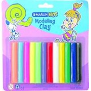Marlin Kids Modelling Clay 180g 12 Colours ,
