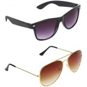 Zyaden Combo of 2 Wayfarer Sunglasses