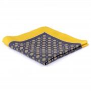 Tailor Toki Pochette de costume en soie grise & jaune