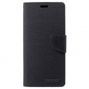 Mercury Goospery Canvas Diary Huawei Mate 20 Pro Wallet Case - Black