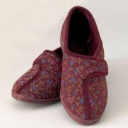 Pattersons Chaussons velcro pour femme - rouge - 39