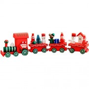 B Xmas Wooden Train Mumustar Children Kids Wooden Blocks Rail Trains 1 Head W