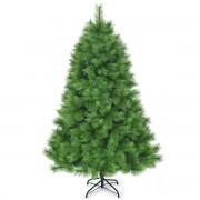 Costway 1 8m Árbol de Navidad no Iluminado con bisagras y 586 Ramas en 100% PVC perfecto como Decoración