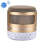 Portable Mini Bluetooth Speaker Built-in Mic for iPhone Samsung HTC Sony and other Smartphones (Gold)