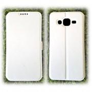 Kалъф - тефтерче със силикон Slim за Samsung Galaxy J5 (2015) - Бял