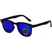 Silver Kartz Rectangular Sunglasses(Blue)