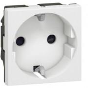 Priza shuko 2 module borne conexiune rapida Legrand Mosaic 077211, alb (LEGRAND)