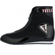 Title Boxing Enrage Lightweight Mid-Length Boxing Shoes - Black/Bla...