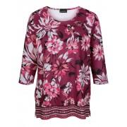 m. collection Shirt m. collection Bordeaux::Pink::Ecru