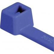 Colier cablu, poliamidă 6.6, tip T30R, 150 x 3.5 mm, Ø fascicul 35 mm, albastru, la pachet, 100 bucăţi
