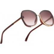 Royal Son Butterfly, Over-sized Sunglasses(Brown)