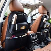 Auto Autostoel Terug Organisator Autostoel Hangende Tas Opslag voor Dranken Paraplu's en Servetzakken (Zwart)