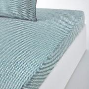 La Redoute Interieurs Lençol-capa em percal DUOEstampado Azul-Petróleo- 140 x 190 cm