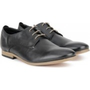 Clarks Chinley Walk Black Leather Lace Up For Men(Black)