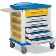 carrello farmacia standard - 6 cassetti - serratura - 82x64xh.100cm