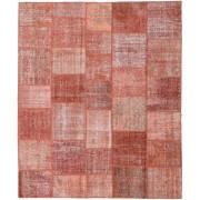 Handgeknüpft. Ursprung: Turkey 252X302 Patchwork Teppich Echter Moderner Handgeknüpfter Rost/Rot/Hellrosa/Braun/Dunkel Beige Großer (Wolle, Türkei)