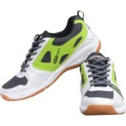 Gowin By Triumph Staunch White/Sky/Green Badminton Shoes For Men(White, Blue, Green)