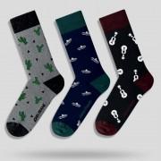 Pánske ponožky John Frank JF3LSEF01 - 3PACK