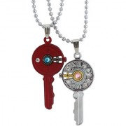 Sukkhi Exclusive Key With Female Symbol 2 Pcs Pendant With Chain For Men
