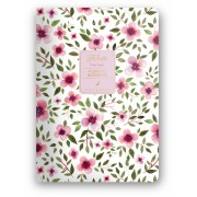 Dolce Blocco Florette Notebook A5, Pink Flow