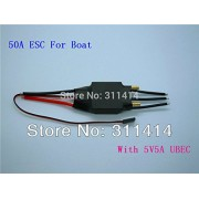 Generic 1piece 50A Brushless ESC For RC Boat With Water Cooling, BEC Output 5V5A + Free Shipping High Quality Retail & Dropship