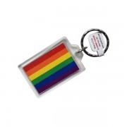 Rainbow Pride Key Ring