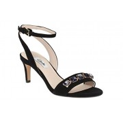 Clarks Women's Amali Opal Black Leather Fashion Sandals - 3.5 UK/India (36 EU)