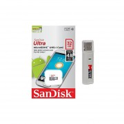 SanDisk Ultra 32GB UHS-I Class 10 MicroSDHC Memory Card Up To 48mb/s SDSQUNB-032G With USB 2.0 MemoryMarket Dual Slot MicroSD & SD Memory Card Reader