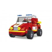 City Fire Chief Car Fire Brigade 133pc Set Educational Building Blocks Set Compatible To Lego Parts - Best Gift For Boys and Girls