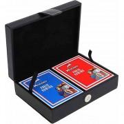 Луксозна кожена кутия с покер карти Модиано