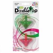 Set titirezi Doodletops verde/roz Micul Artist
