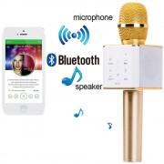 Microfon wireless pentru karaoke cu boxe si bluetooth incorporat