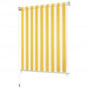 vidaXL Store roulant d'extérieur 200x140 cm Rayures jaunes et blanches