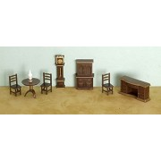 Dollhouse Miniature 1/4 inch Scale Dining Room Set