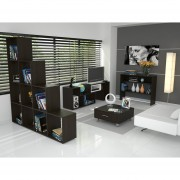 Combo TuHome Rack TV + Biblioteca + Arrimo + Mesa Centro - Wengue