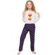 Szofika lányka pizsama rókával, bézs 104