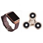 Zemini DZ09 Smart Watch and Fidget Spinner for LG OPTIMUS L3(DZ09 Smart Watch With 4G Sim Card Memory Card| Fidget Spinner)