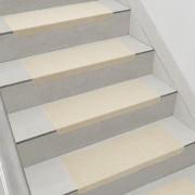 Комплект от 15 броя самозалепващи се килими (стелки) за стълби [en.casa]®, 280 g/m² , Правоъгълник,