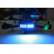Generic warm white : 4Pcs Super Bright 5W Night Flying Tail LED lights Searchlight Drone RC Light for QAV250 ZMR 250 Quadcopter Kit