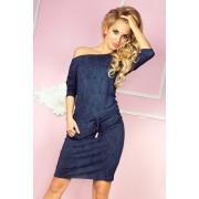 MyButik.pl Sukienka Sportowa Wiskoza Jeans Granatowy XS/S/M/L/XL/XXL