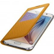 Husa tip carte S-View Samsung EF-CG920BYEGWW galbena (textil) pentru Samsung Galaxy S6 (SM-G920)