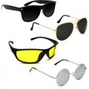 Vitoria Aviator, Round, Wayfarer, Wrap-around Sunglasses(Multicolor)