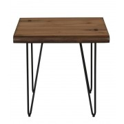 Wildon home collection mid century modern style natural honey finish wood end table