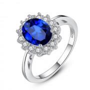Inel AG piatra albastra Princess