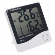 Set 2 produse - Ceas digital cu senzor de umiditate termometru si alarma + Suport Universal de Birou Pentru Tablete sau Telefoane