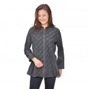 シャーリングデニム ロングシャツ【QVC】40代・50代レディースファッション