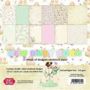 Craft And You Design Papier 30,5x30,5 New Baby Born - zestaw