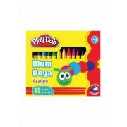 Culori cerate PLAY-DOH PLAY-CR004 varf 8mm 12 culori/cutie