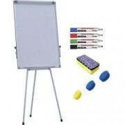 Flipchart magnetic 70x100 cm Premium inaltime ajustabila + accesorii markere burete magneti